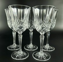 Vintage Cristal D Arques LongChamp Set of 5 Crystal Wine/ Champagne Glasses - $25.00