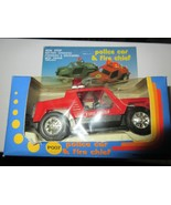 Police Car or Fire Chief Car , Vintage  , New In Box , Battery Operated - $21.91
