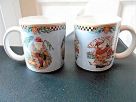 Sakura Debbie Mumm Woodland Santa Cup Mug Lot of 2 - $7.33