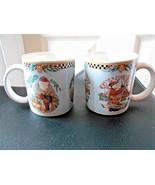 Sakura Debbie Mumm Woodland Santa Cup Mug Lot of 2 - $7.33