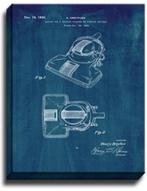 Vacuum Cleaner Patent Print Midnight Blue on Canvas - $39.95+