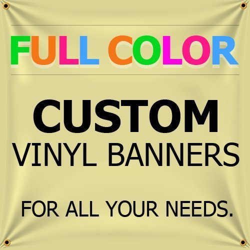 Custom Full Color Vinyl Banners with Grommets True Solvent Ink Signs (2 x 5)