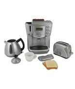 Play kitchen Appliances - Toy Kitchen Breakfast Tea Set   Deluxe Play ki... - $70.92