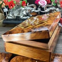 Thuya wooden storage box, hand carved mosaic patterns wooden storage Gif... - $138.38