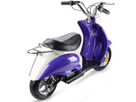 MotoTec 24v Electric Moped Purple Scooter Kid's 13+ Yrs 15 MPH image 4