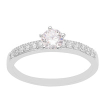 Cubic Zirconia Solitaire with Accent 925 Silver Half Eternity Women Wedd... - $14.57