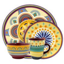Elama Puesta De Sol 16 Piece Service for 4 Stoneware Dinnerware Set - $74.49
