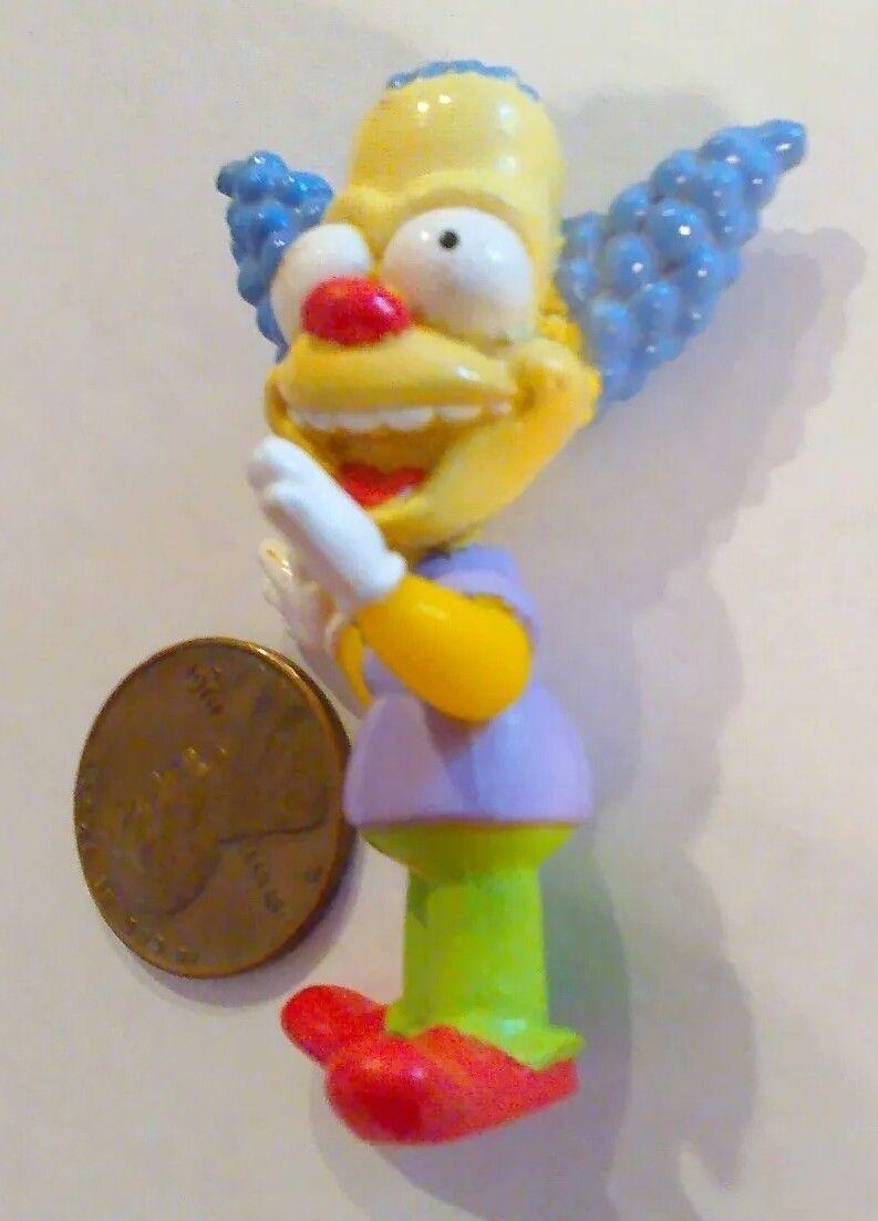"""Simpson Clown Mini KRUSTY 2"""" Turn bob head Cartoon Tv Character Toy - $15.00"""