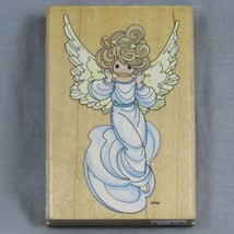Stampendous Precious Moments Flute Angel 1998 Rubber Stamp UP005 Made In USA - $6.25
