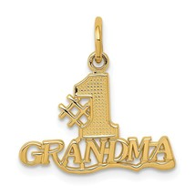 14k Yellow Gold #1 Grandma Charm Pendant 0.75 Inch - $77.45