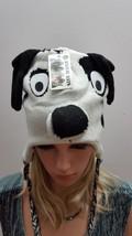 NEW ADULTS PLUSH KNIT FLEECE ANIMAL CAP HAT BEANIE W/TASSEL WHITE DOG NEW - $11.97