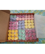 64 Tea Light Candles Assorted Colors and Scents... - $54.45