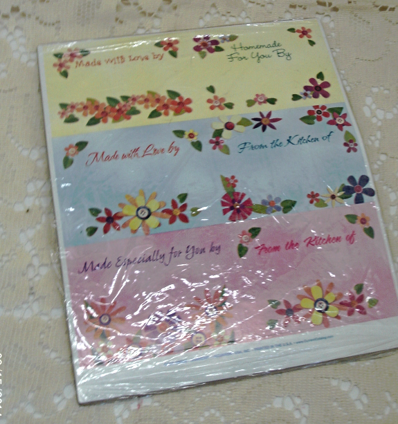 Vintage Current Inc. Homemade Baking Goods Craft Labels - New in Package