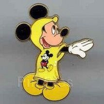 Disney Rain Poncho Mickey Mouse yellow rain poncho pin/pins - $19.33