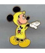 Disney Rain Poncho Mickey Mouse yellow rain poncho pin/pins - $19.33