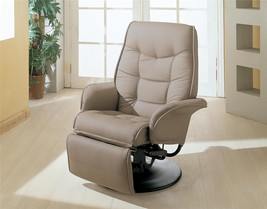 SWIVEL RECLINER WITH TILT FUNCTION IN BONE LEATHERETTE For VANS or RV's - $325.71
