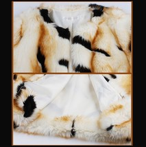 Kitten Soft Luxury Big Tiger Stripes Faux Fur with Wide Belt Long Coat Jacket  image 6