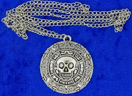 Pirates of the Caribbean Necklace or Keychain Silver Doubloon Coin Lengt... - $4.99+