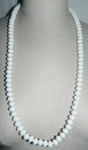 "VTG CROWN TRIFARI White Celluloid Plastic Beaded Necklace 31.5"" - $29.70"
