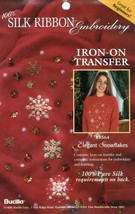 Snowflakes Silk Ribbon Embroidery Iron OnTransfer - $3.50