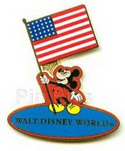 Disney WDW - Mickey Holding USA Flag  Pin/Pins - $21.28