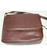 Purse in brown leather new with tags shoulder s... - $15.00