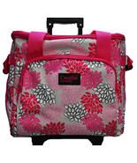 XL Serger Trolley Pink Gray Floral - $199.50