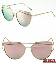2016 GENTLE LOVE PUNCH SUNGLASSE BLACK SILVER GOLD FRAME ALL PINK MIRROR... - $7.87+