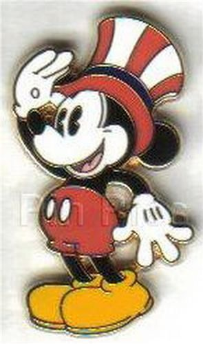 Disney pie-eyed Mickey Mouose  full body Patriotic  with hat pin/pins