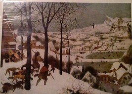 Hunters in the Snow (MINI PRINT) By Pieter Bruegel - $45.00