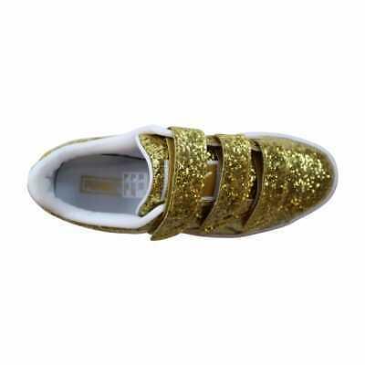 Puma Basket Strap Glitter Gold 364070 02 Women's Size 6.5