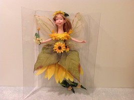 Hanging Summer Fairy Sunflower Leaf Dress Ceramic Face body Yellow/Green