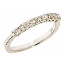 0.38 Carat 9 Stone Diamond Women's Wedding Anniversary Band Ring 14k Whi... - £370.82 GBP