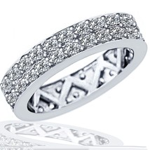 1.75 Carat F-VS Diamond Eternity Women's Anniversary Wedding Band 14k Wh... - £1,262.41 GBP