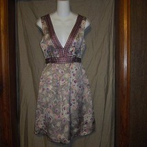 NWOT H & M Brown Print Career Party Dress Size 8 - $17.80