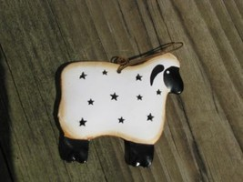 OR-324 Sheep Metal Christmas Ornament  - $1.95