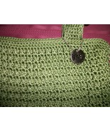 THE SAK Green Crocheted Knit Hobo Tote Hippie L... - $18.99