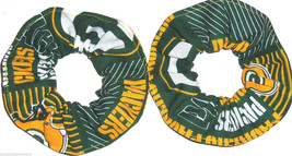2 Green Bay Packer Patches Fabric Mini Hair Scrunchie Scrunchies by Sherry - $9.95