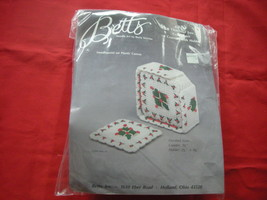 BETTS CHRISTMAS NEEDLEPOINT PLASTIC CANVAS KIT. COASTER SET.  - $10.99