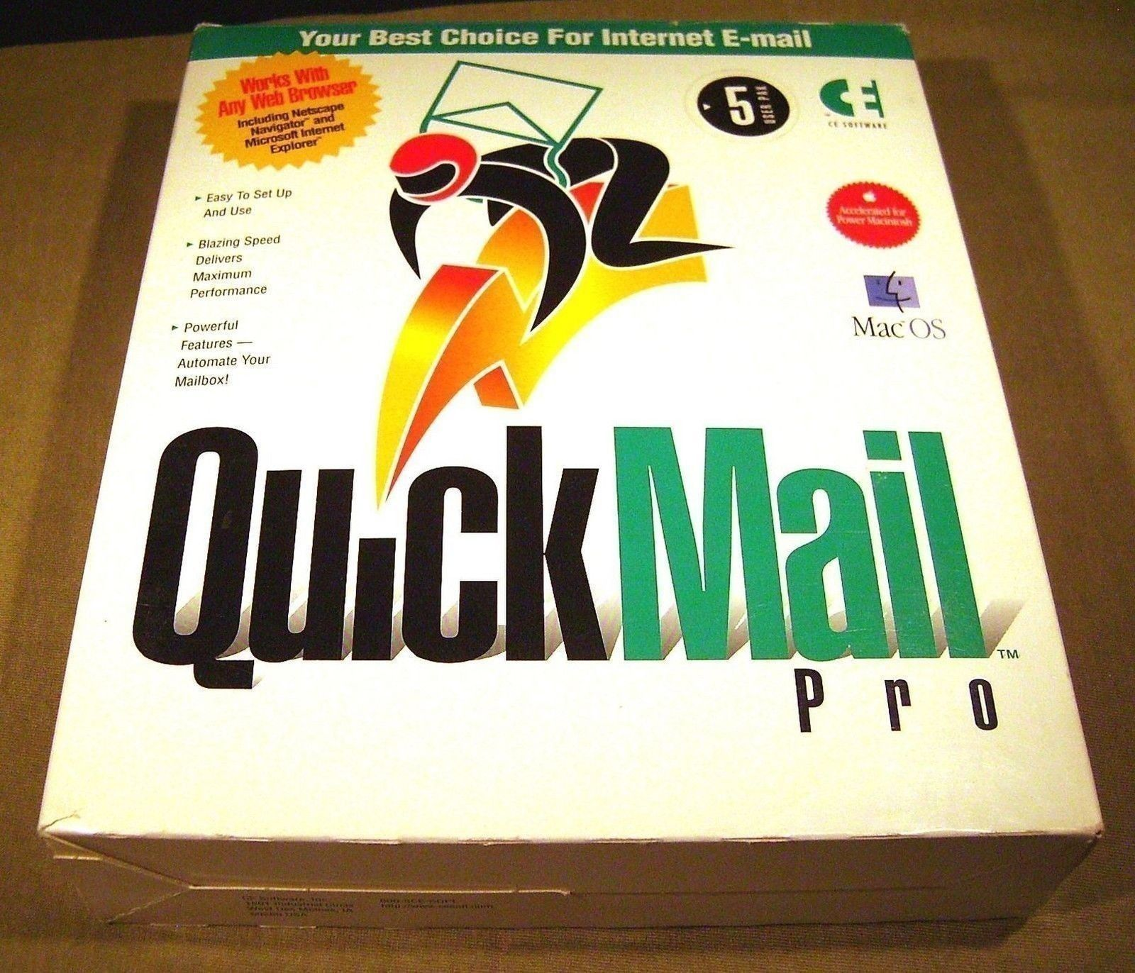 QuickMail Pro 1.0 Vintage Mac Software 5 User