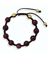 Adjustable Macrame Bracelet with Glass and CZ B... - $22.97