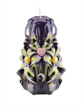 Carved Candles Yellow Purple Pink Black Paraffin Wax Unscented Free ship... - $32.99
