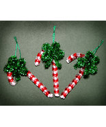 Handcrafted Beaded Candy Cane Christmas Ornaments - $8.98