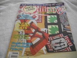 Quick & Easy Quilting~Summer 1990 Magazine - $5.00