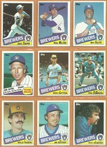 1985 Topps Milwaukee Brewers Team Lot Paul Molitor Don Sutton Cecil Cooper Haas - $4.75
