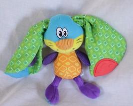 Nuby Lovey Baby toy teether sensory rattle play Rabbit Bunny ears plush ... - $19.33