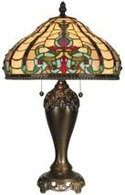 New Dale Tiffany Rococo Table Lamp  Ornate Baroque Glass - $550.00