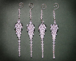 Handcrafted Christmas Beaded Icicles and Hangers - $10.00