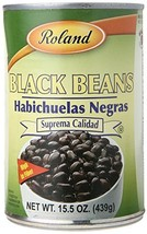 Roland Foods Black  Beans, 15.5 Ounce Pack of 24