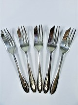 Vintage Lot 5 Maurice Stables MS LTD EPNS Loxley Pastry Forks Sheffield England - $18.76